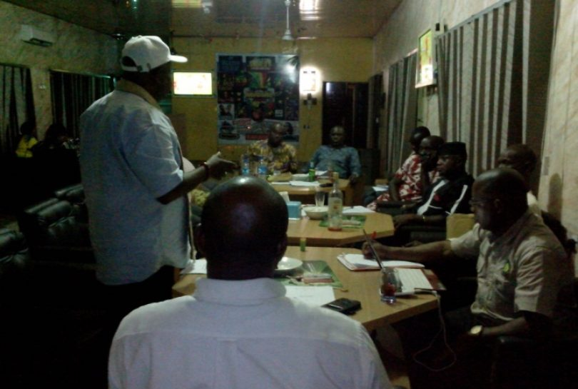 The National Vice President making a point